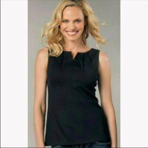 [CAbi] Perfect Shell Ponte Tank In Black